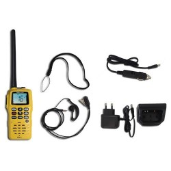 Pack comprenant VHF portable 6W RT411 + alimentation 12V + micro orei Navicom