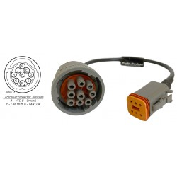 Caterpillar Round 9-pin Adaptor Cable Yacht Devices