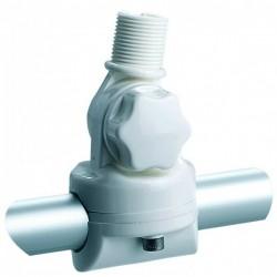 Rotule balcon - fixation verticale ou horizontale - Double articulation avec blocage par molette