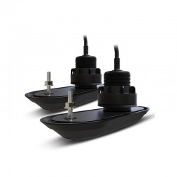 Pack sonde traversante plastique bâbord et tribord 12° RV-312 RealVision 3D, branchement direct AXIOMRaymarineT70320