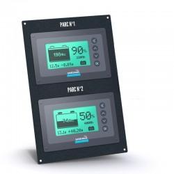 Gestionnaire de batteries Seatronic 2 shunts 350A avec la plaque de fixation  EGBMS2