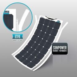 Panneaux solaires souple avec fermeture éclair intégrée