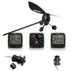 Pack i50 & i60 Vent, Vitesse, Prof. - 3 x Insts, sonde et capteurs (E70058, E70059, E70061, E26031, M78713-PZ, et E22078)Raymari