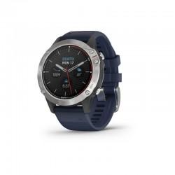 quatix6, grise avec bracelet bleu capitaine Garmin