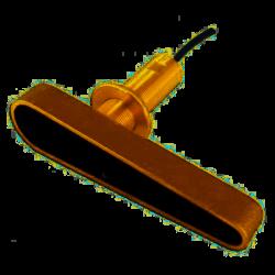 Sonde CPT-120 traversante Bronze avec sabot CHIRP, Sondeur et Température branchement direct CP100, écrans xx8 et AXIOM DV (câbl