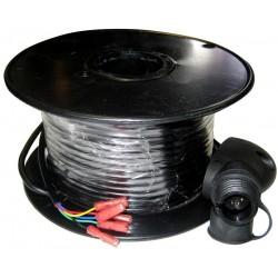 Câble 50 mètres et connecteur pour tête de mat Raymarine
