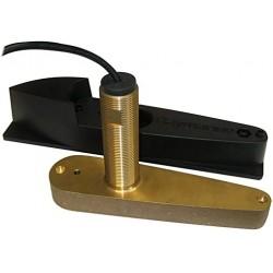 Sonde CPT-80 traversante Bronze avec sabot profilé CHIRP, Sondeur et Temp. pour DF - ajouter A80332 pour DF Pro Raymarine
